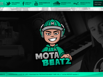 Mota Beatz custom soundclick design