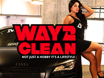 Way2Clean splash page design